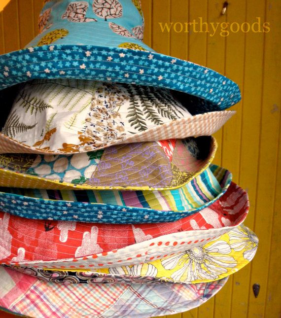 I have to learn to sew!! Sun Hat PDF Pattern  Womens Over the Top Sunhat DIY by worthygoods, $8.50