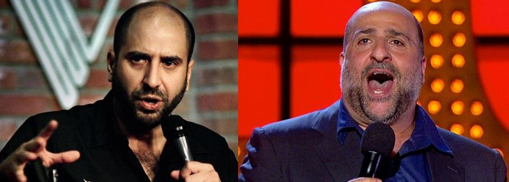 In yet another one of those across the pond instances of celebrity clonage; we have two comedians who look very much alike; and that is none other than Dave Attell (L) and Omid Djalili (R)