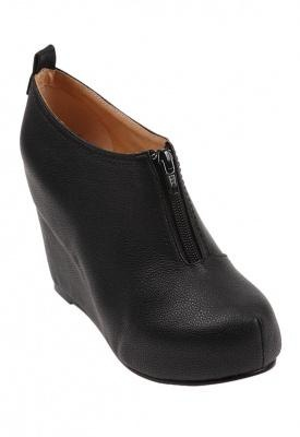 Jeffrey Campbell Ninety Nine Built in Wedge Bootie in Black