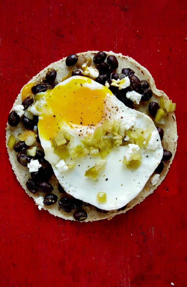Easy breakfast taco recipes. This one is full of black beans, cheese, and salsa verde. Get the recipe: http://blog.freshdirect.com/breakfast-taco-recipes/