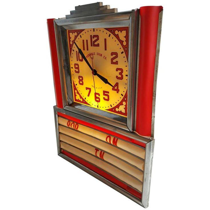Art Deco Light Up Clock