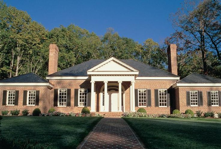 17 best images about georgian house plans on pinterest for Single story brick house plans