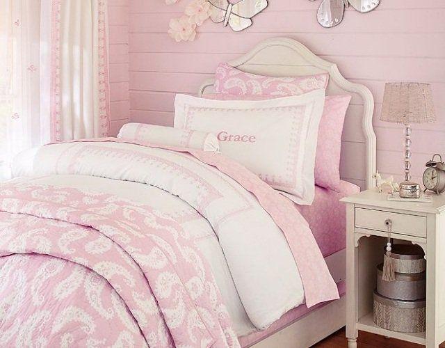 Les 25 meilleures id es de la cat gorie literie rose p le for Chambre rose pale