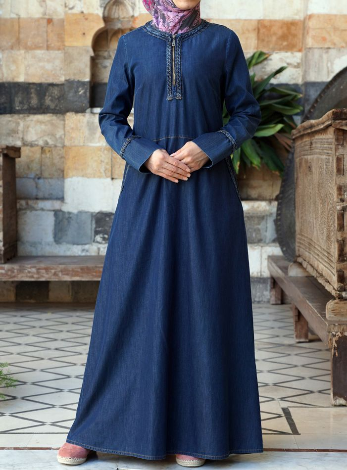 A Denim lover's dream: Versatile and lightweight. Perfect for #Ramadan. From Shukr Islamic Clothing