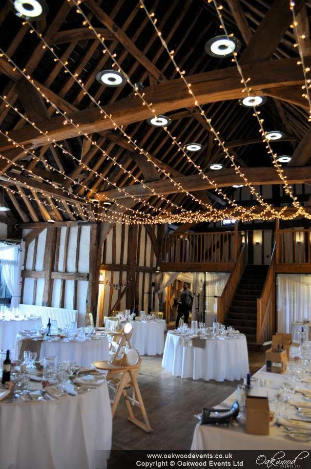 Single swag canopy for a spring wedding at the Tudor Barn