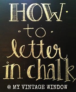 Learn how to write pretty letters on your custom chalkboard. It sure makes a difference #Chalkboard, #Writing