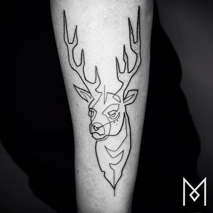 "German-Iranian tattoo artist Mo Ganji wants to create simple images with a strong impact. Born in Iran but based out of Berlin, Ganji believes that it's easier to ""add and add"" than to use limited tools to create something basic. This philosophy results in tattoos that appear to be just one line, and may also have something to do with his outlook on the world."
