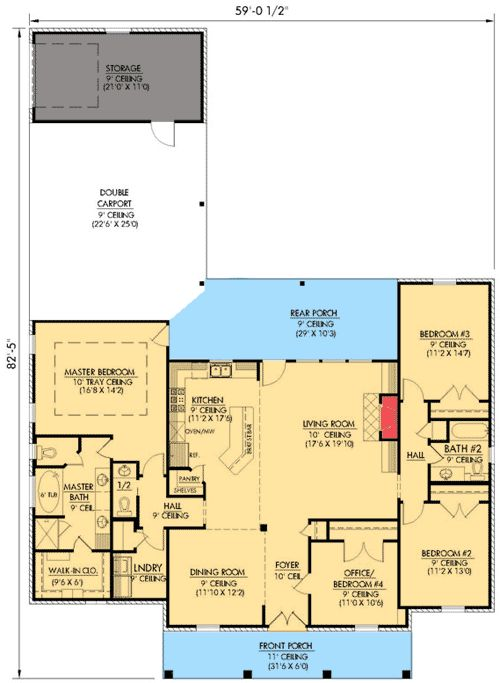 88 Best Images About 4 Bedroom Rambler Plans On Pinterest