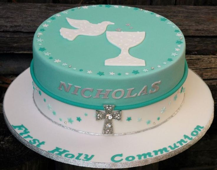 Cake Designs For Communion : 1000+ ideas about First Communion Cakes on Pinterest ...
