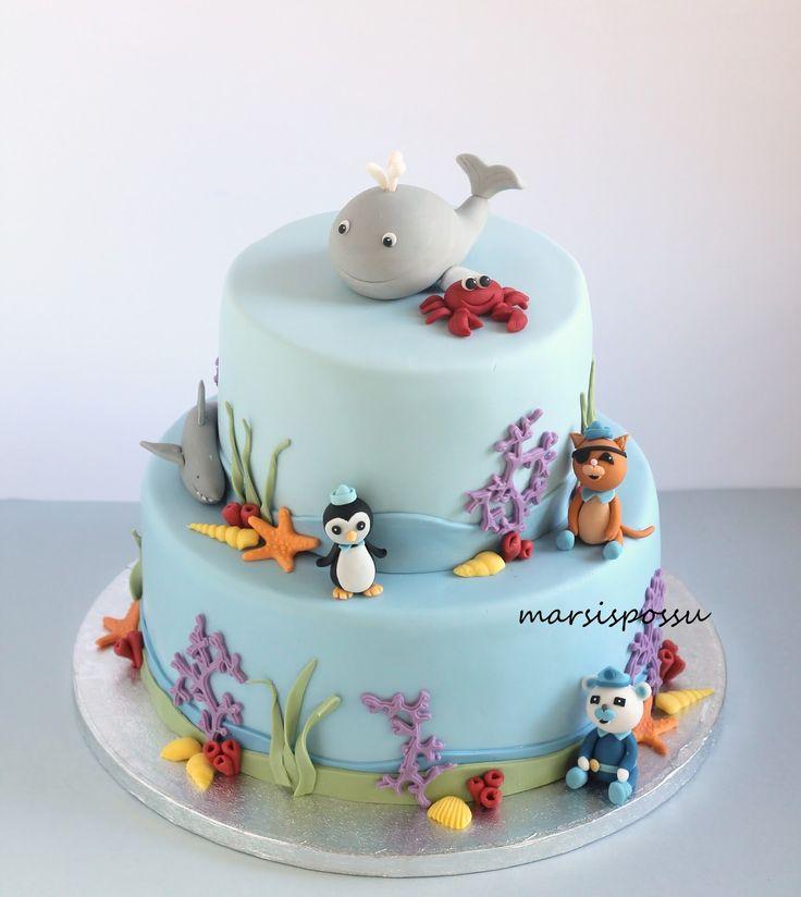 Marsispossu: Merenelävät -kakku, Sea life cake