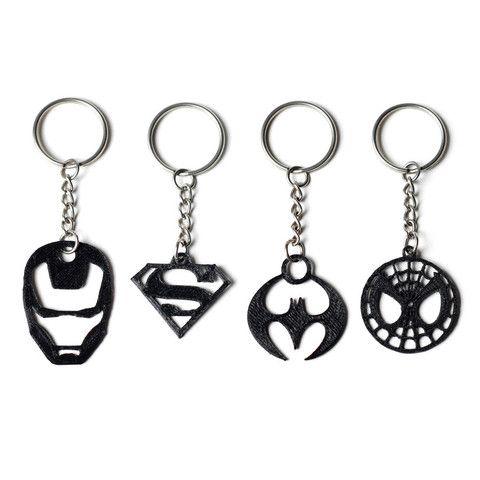 Download on https://cults3d.com #3Dprinting #Impression3D 3D Superhero Keychain…