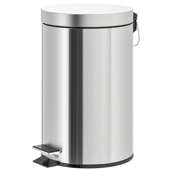 Strapats Poubelle A Pedale Acier Inox 12 L Trouvez Le Ici Ikea In 2020 Ikea Wash Basin Accessories Stainless Steel