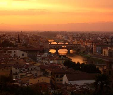 Sunset over Florence, Italy