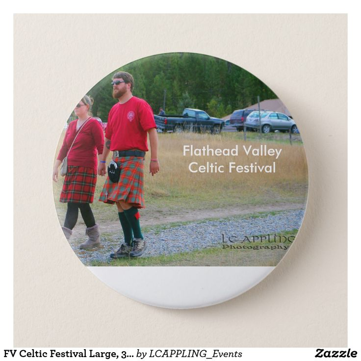 FV Celtic Festival Large, 3 Inch Round Button