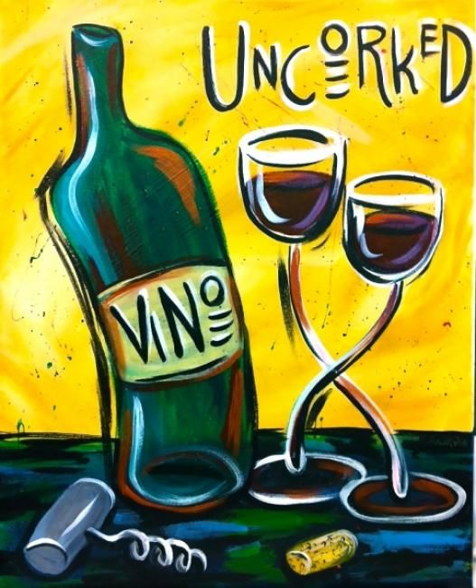Wine paint party at the wine dive wednesday february 20 for Wine paint party
