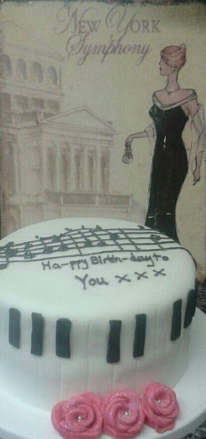 Musical birthday cake.