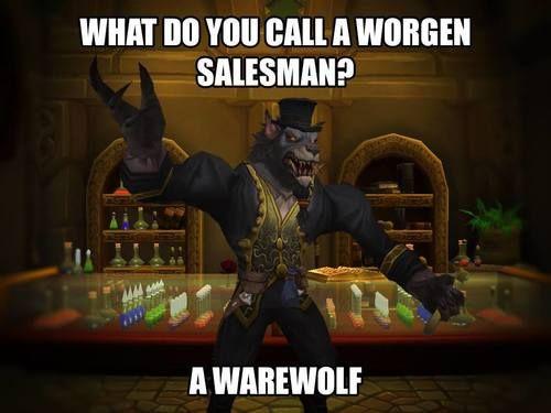 That Friday feeling... 😁 Bad Joke Friday. World of Warcraft, September 2017