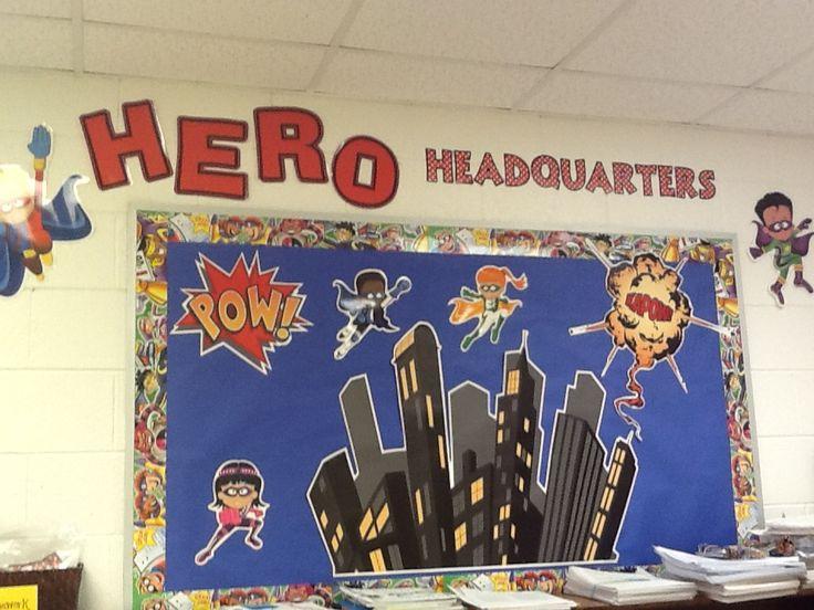 Superhero Bulletin Board | Superhero | Pinterest ...