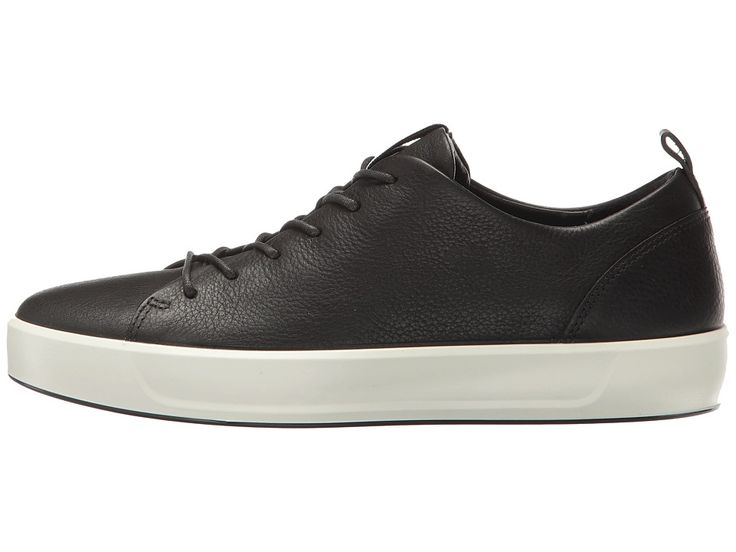 ECCO Soft 8 Sneaker Women's Lace up casual Shoes Black Cow Leather