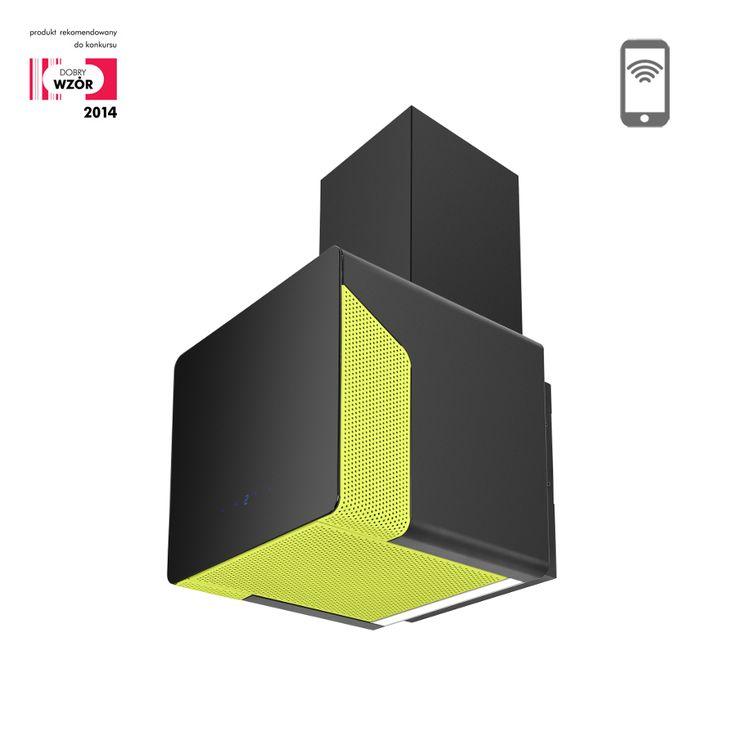 Okap kominowy Ciarko Design Cube Neon zielony http://www.sklep.ciarkodesign.pl/e-sklep/okapy-kominowe/cube-neon-green-detail #DESIGN #KITCHEN #OKAP #HOOD