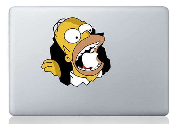Etiqueta engomada del ordenador portátil 13 pulgadas Simpson para Macbook calcomanías Macbook pegatinas Mac vinilo para Apple portátil de Macbook Pro(China (Mainland))
