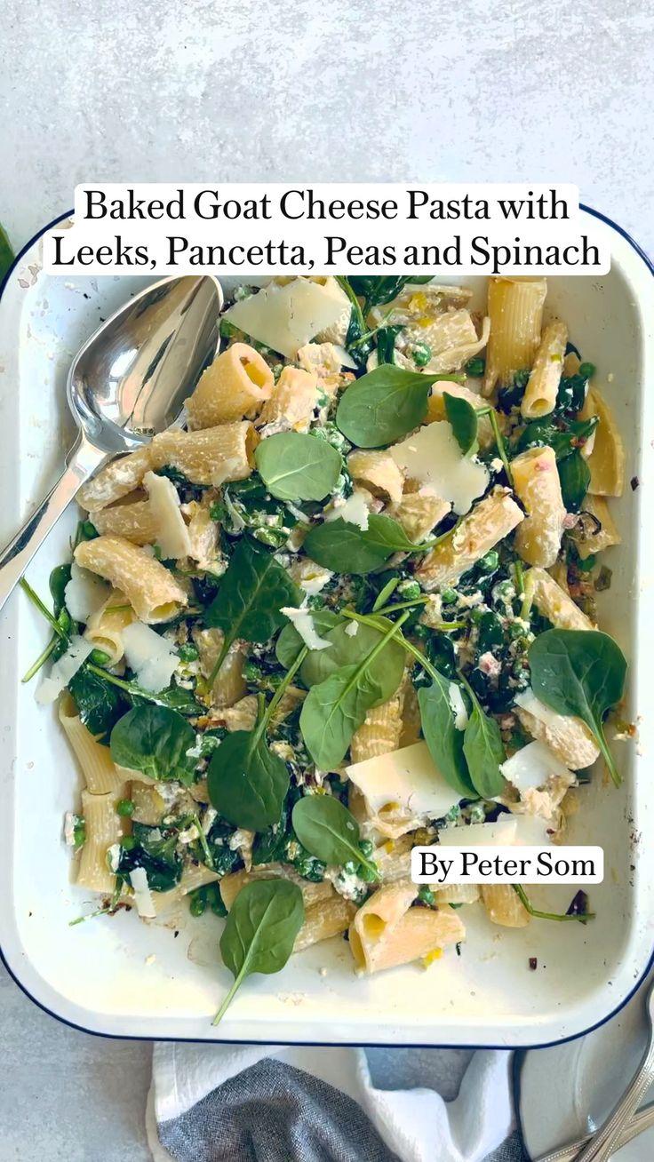 Recipes With Kale, Pasta Recipes, Vegetarian Recipes, Dinner Recipes, Cooking Recipes, Healthy Recipes, Baked Goat Cheese, Goat Cheese Pasta, Pasta Facil