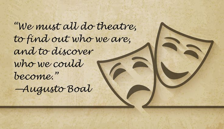 Greatest theatre quote ever.