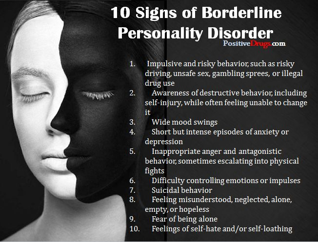 10 Signs of Borderline Personality Disorder -PositiveMed | Positive Vibrations in Health