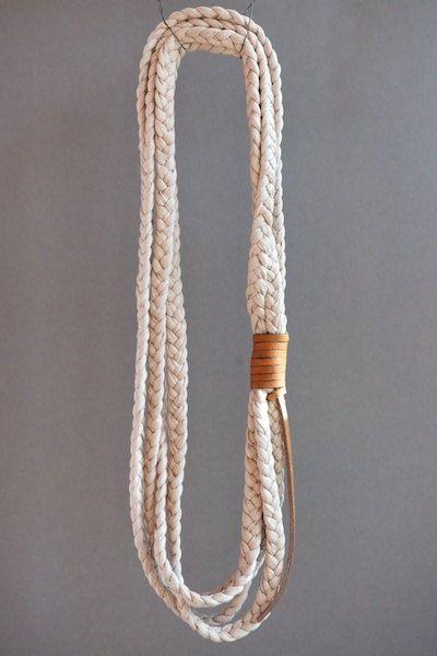Fabric+yarn+necklace