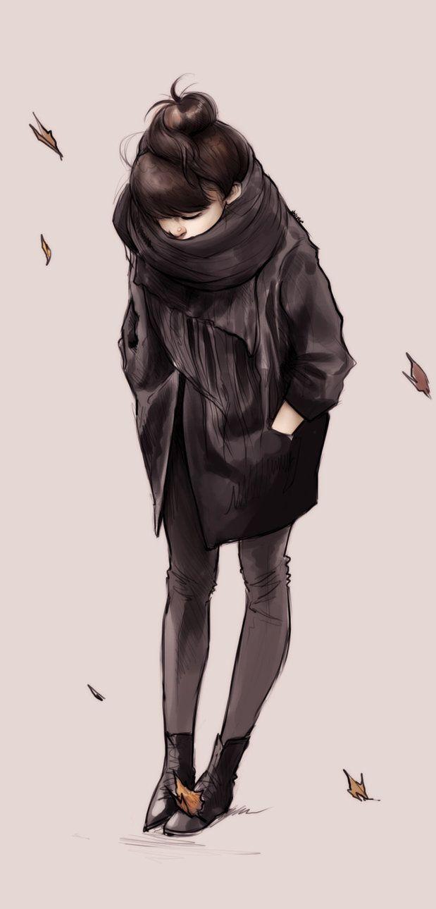 Ninjatic, Autumn Girl http://ninjatic.deviantart.com/art/Autumn-Girl-330022894