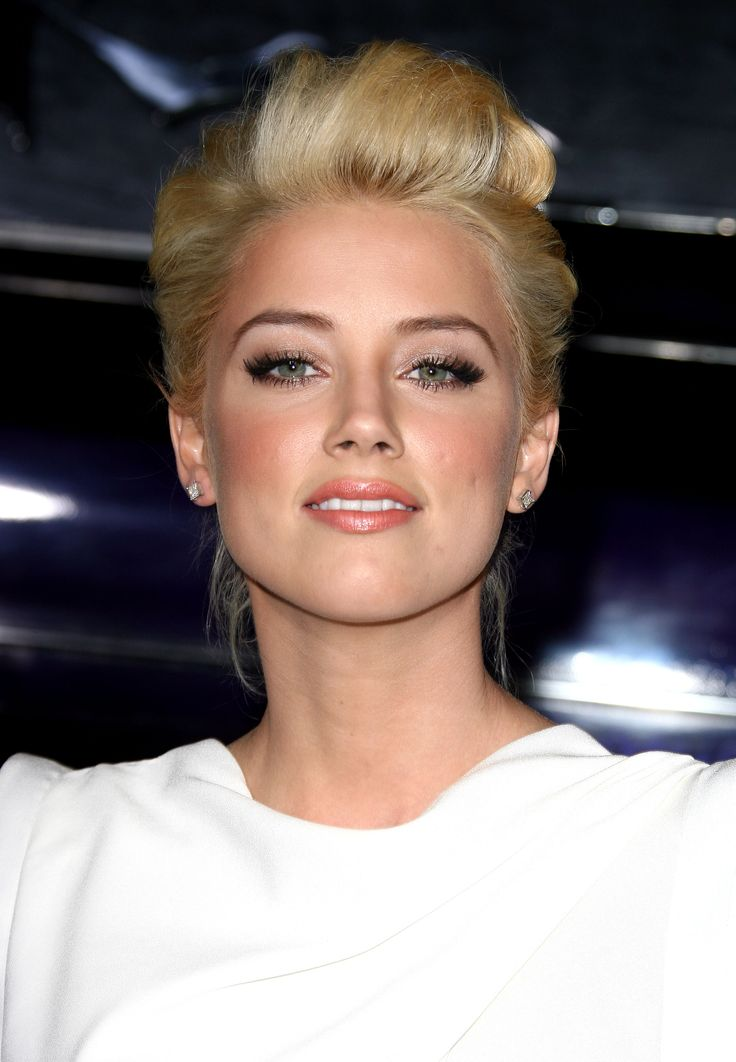 """amber heard as kate kavanagh - """"gamine and gorgeous, strawberry blonde hair in place and green eyes bright... she doesn't take any crap."""" - fifty shades of grey"""