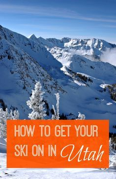 Few ski resort areas in the world can boast access to thousands of skiable acres within an hour of stepping off an airplane. How to get your snow on at Utah ski resorts. | skiing | winter travel