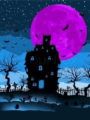 Halloween Art / Picture - I love the choice in colors!