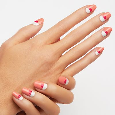 mod sunset by essie - show off your mod style with this sunny summer nail art.