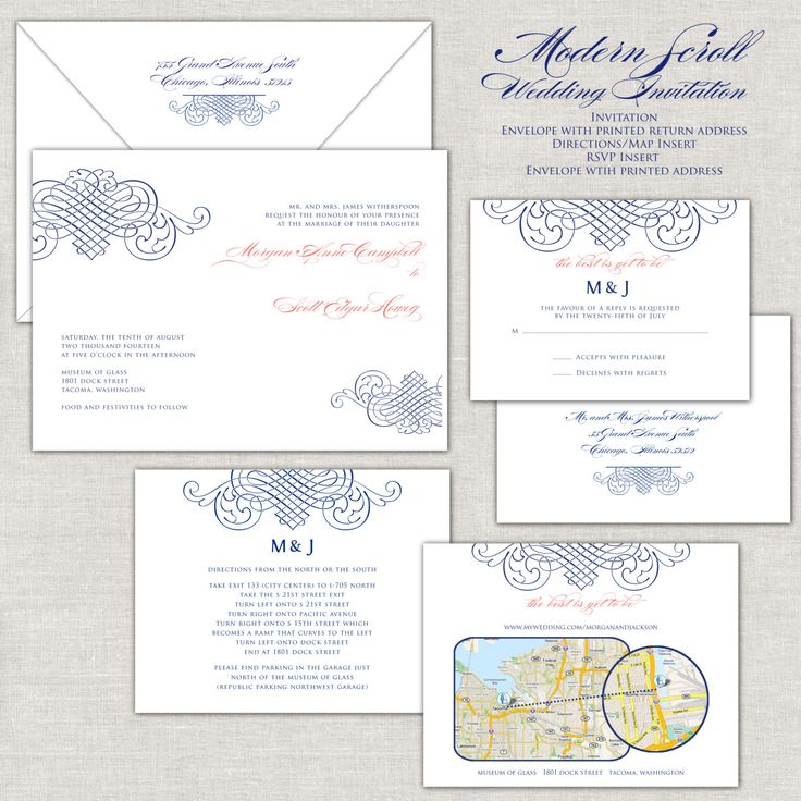 Coral U0026 Navy Wedding Invitation, Navy Wedding Invites, Elegant Wedding  Invitations, Linen Invitations, Romantic Wedding, Modern Wedding