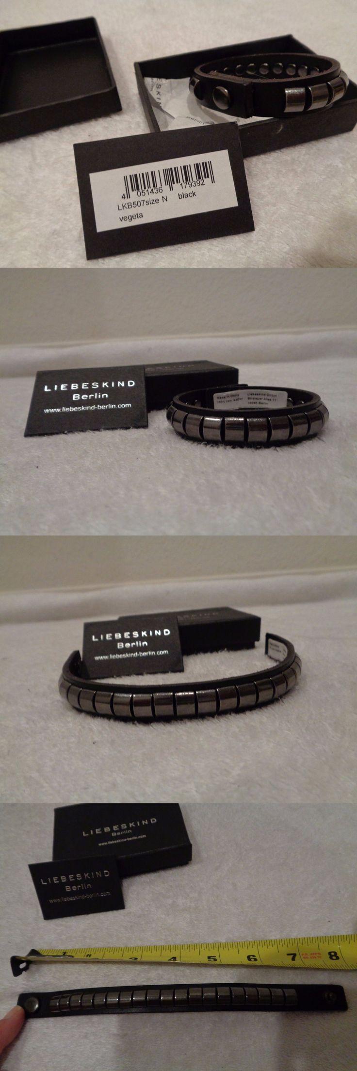 Wristbands 112603: Liebeskind Berlin Leather Studded Metal Wristband/Bracelet Nib! Lkb507 Black $98 BUY IT NOW ONLY: $31.5