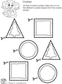 scissors skills preschool worksheet and activity cookies