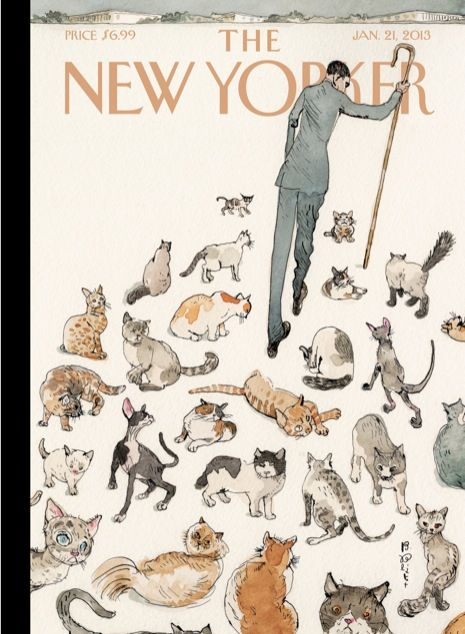 """Cover of the Jan. 21, 2013 issue-- Click-through for the story behind """"Herding Cats,"""" by Barry Blitt: http://nyr.kr/W2w01T"""