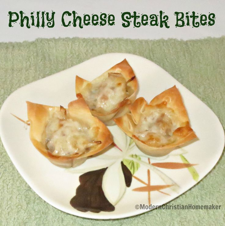 Philly Cheese Steak Bites are amazing little finger foods that have this HUGE Philly Cheese Steak taste.  They are really easy to make, the hardest part is caramelizing the onions, and that's pretty easy!