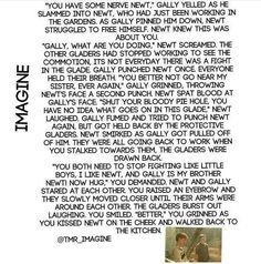 Image result for maze runner newt imagine