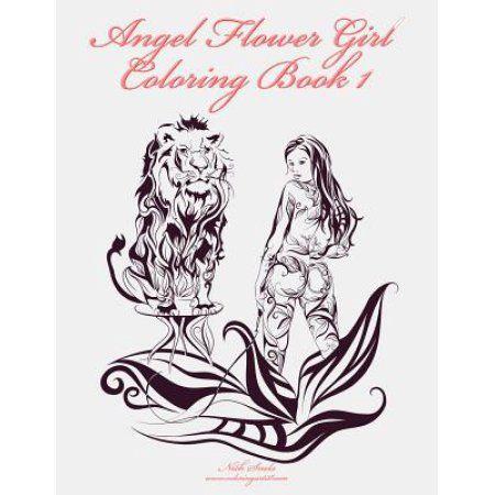 angel flower girl coloring book 1 angels demons fairies cat girls - Flower Girl Coloring Book