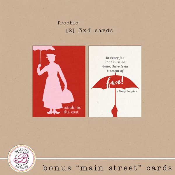Mary Poppins Free Project Life Freebies