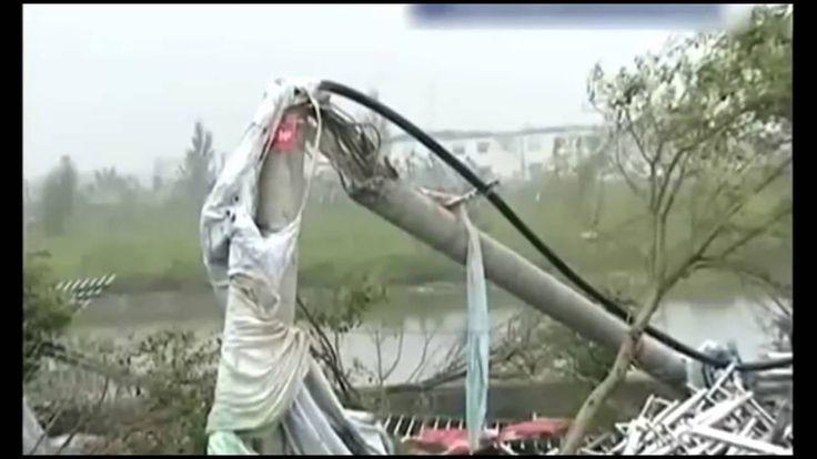 Tornado Landa Jiangsu China, Kota Hancur Berantakan