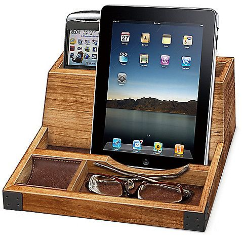 This Rustic Smart Phone/Tablet Wood Charging Valet Is A Great Way To Keep  Your Electronics Ready And Raring To Go. It Holds Up To 2 Cell Phones And 1  Tablet ...