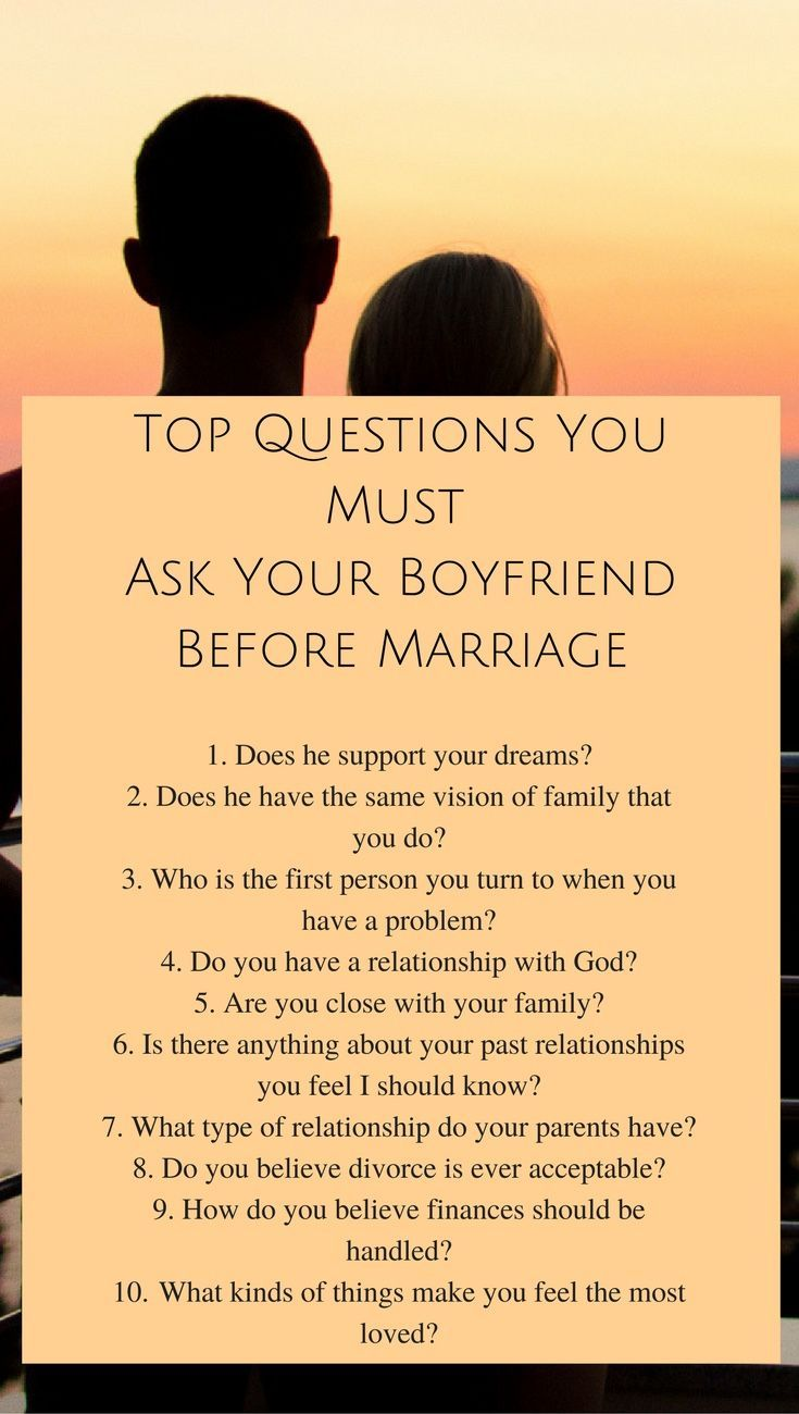Top Questions You Must Ask Your Boyfriend Before Marriage. Join the Prepare For Your Soulmate Challenge