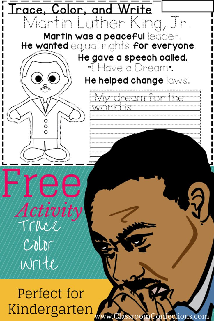 Bookmarks to color of dr king - Martin Luther King Jr Activity For Kindergarten
