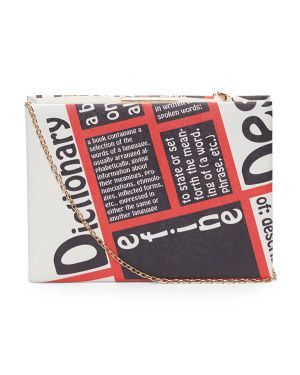 Dictionary Book Clutch