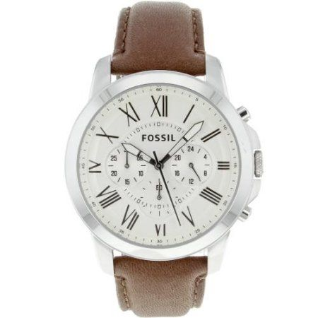 Fossil Grant Chronograph Leather Men's Watch, FS4735 $68.73