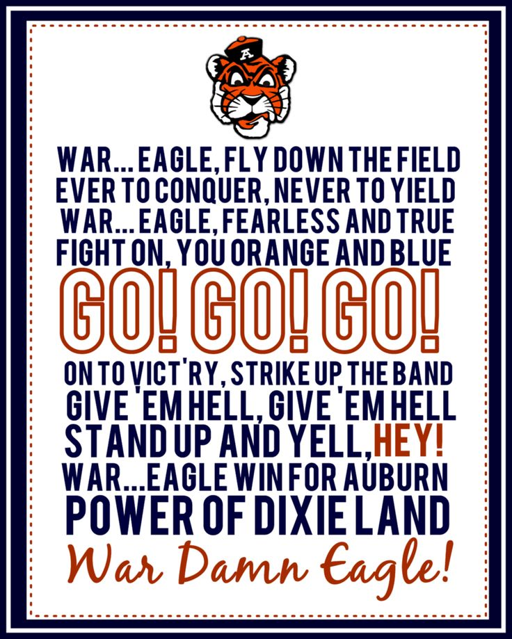Auburn Fight Song | ( sorry about the cuss would but WAR EAGLE!)