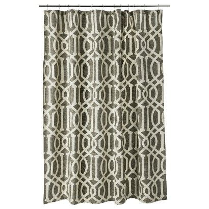 42 best brown shower curtain images on pinterest fabric for Master bathroom curtains